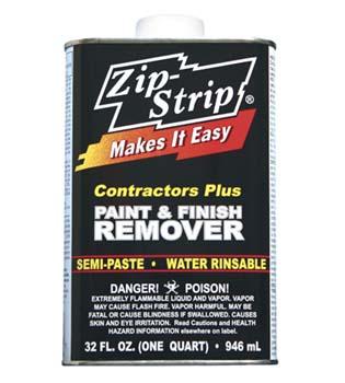 ZIP STRIP 288004 CONTRACTORS PLUS PAINT AND FINISH REMOVER SIZE:QUART PACK:6 PCS.