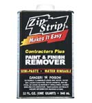 ZIP STRIP 288004 CONTRACTORS PLUS PAINT AND FINISH REMOVER SIZE:QUART PACK:6 PCS.