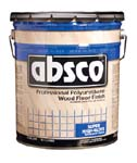ABSOLUTE COATINGS 89005 ABSCO POLYURETHANE WOOD FLOOR FINISH GLOSS 450  VOC SIZE:5 GALLONS.