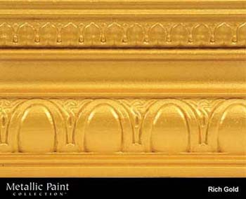 MODERN MASTERS ME701-GAL RICH GOLD METALLIC PAINT SIZE:1 GALLON.